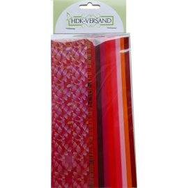 10 Wachsplatten Rot Mischung (8x Unifarbe 1x Flitter 1x Marmoreffekt) 200x50x0,5mm Bunt sortiert , Verzierwachs, Wachs