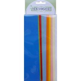 10 Wachsplatten Pastell Mix Bunt Mischung 200x50x0,5mm Bunt sortiert , Verzierwachs, Wachs