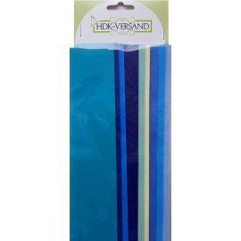 10 Wachsplatten Blau Mischung Variante 3 Grösse ca. 200x50x0,5mm Bunt sortiert , Verzierwachs, Wachs
