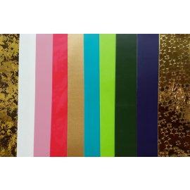 10 Wachsplatten Weihnachts-Mix Marmor Gold Mix Grösse ca. 200x50x0,5mm Bunt sortiert , Verzierwachs, Wachs