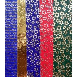 5 Wachsplatten Bunt Mischung Weihnachts Mix Grösse: 200x50x0,5mm Verzierwachs, Wachs