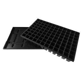 Aussaatschalen aus Kunststoff Anthrazit/ Schwarz QuickPot mit Untersetzer