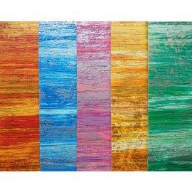 5 Wachsplatten Bunt Mix Grösse ca. 200x50x0,5mm Bunt sortiert , Verzierwachs, Wachs Antik