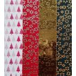 4 Wachsplatten Tannenbaum Rot Gold Mix Grösse ca. 200x50x0,5mm Bunt sortiert , Verzierwachs, Wachs