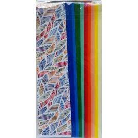 10 Wachsplatten Wellen Uni Mix Grösse ca. 200x50x0,5mm Bunt sortiert , Verzierwachs, Wachs