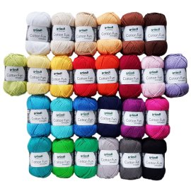 10x50 Gramm Gründl Cotton Fun Wollset bunt