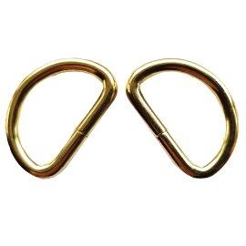 D-Ringe Halbringe Gold Breite 32 mm x 27 mm Stärke 5 mm zu 10 Stück