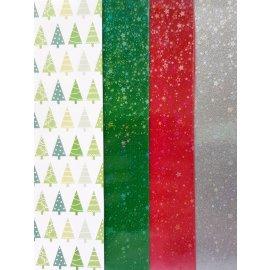 4 Wachsplatten Weihnachts Bunt Mischung Grösse: 200x50x0,5mm Verzierwachs, Wachs