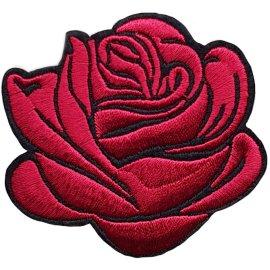 Aufbügler für Jeans Rose Dunkelrot 3 Stück