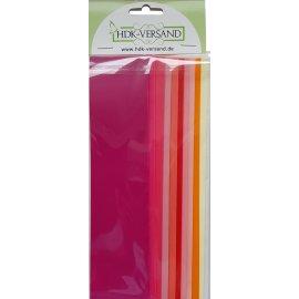 10 Wachsplatten Rot Mix Uni Grösse ca. 200x50x0,5mm Bunt sortiert , Verzierwachs, Wachs
