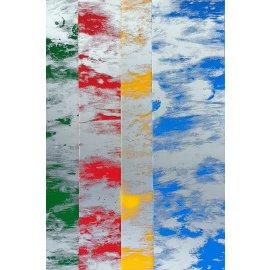 4 Wachsplatten Bunt Mix Grösse ca. 200x50x0,5mm Bunt sortiert , Verzierwachs, Wachs (Wolken Bunt)