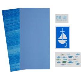 Efco/Hdk-Versand Wachsdekore Verzierwachs 5 TLG zur Taufe blau